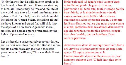 discours de guerre edition bilingue