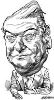 K. Amis caricature