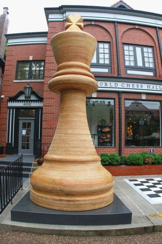 Chess world's large piece