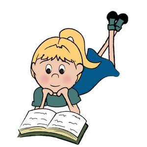 Tintin - girl reading