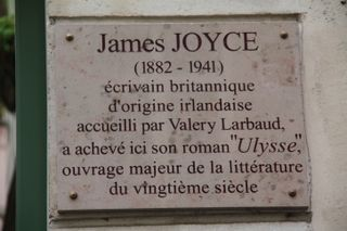 James Joyce plaque