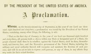 Emancipation proclamation 1