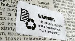 Churnalism warning