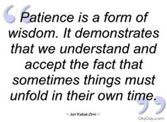 Patience quotation