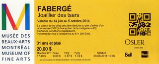 Faberge ticket rotated