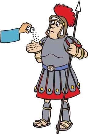 Salt  Roman soldier