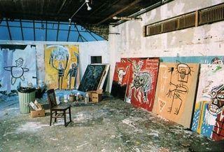 Basquiat studio