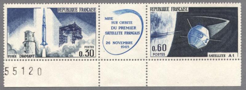Premier satellite francais le 26 novembre 1965