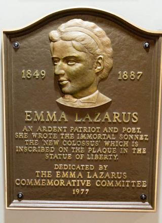 Emma Lazarus plaque