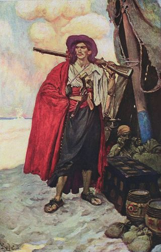 Buccaneer of the Caribbean - Book of Pirates  1921(Howard Pyle)