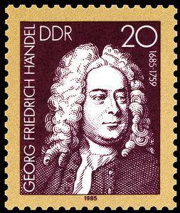 Stamp George-Frideric-Handel