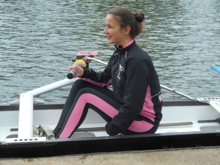 Livia rowing