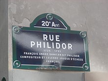 Plaque Philidor