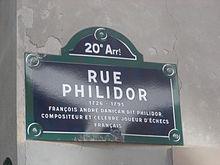 Plaque Philidor