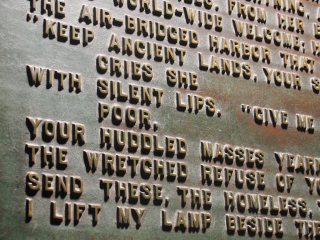 Emma Lazarus plaque detail