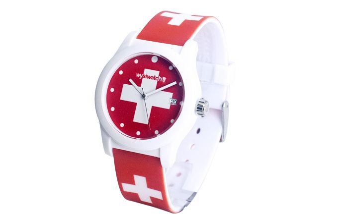 Fabuleux montre drapeau suisse MR59
