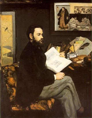 Norton Simon - Manet,_Edouard_-_Portrait_of_Emile_Zola