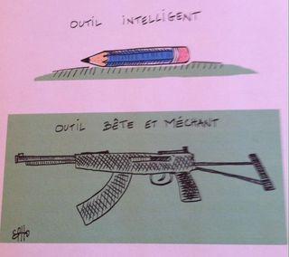 Tim  crayon et fusil