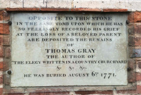 Gray plaque