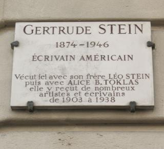 Plaque_Gertrude_Stein _27_rue_de_Fleurus _Paris_6