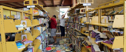 Library earthquake