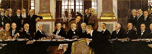 Clemenceau  -  Signing Versailles