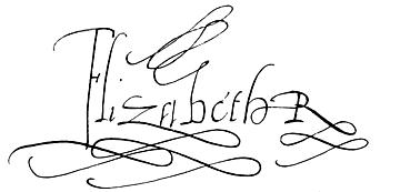 Elizabeth 1 signature
