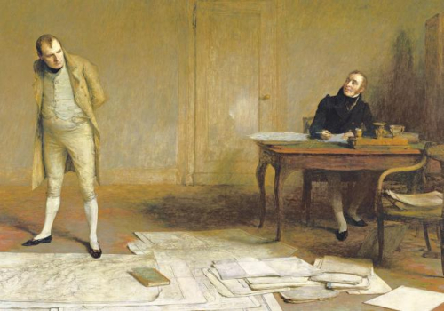 Napoléon-dictant-ses-mémoires-à-Emmanuel-de-Las-Cases-