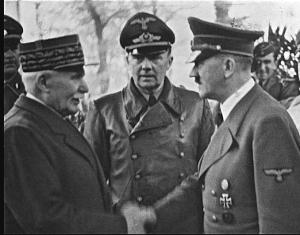 Petain  Schmidt & Hitler