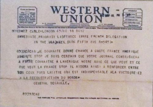 GP - telegrame de Gaulle