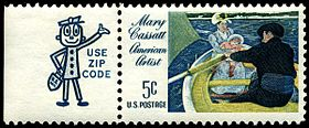 Stamp_US_1966_5c_Cassatt_with_Zippy