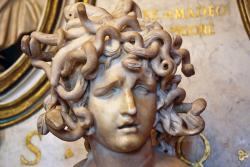 Medusa-marble-sculpture