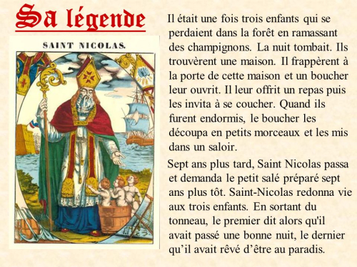 Legende Saint Nicolas