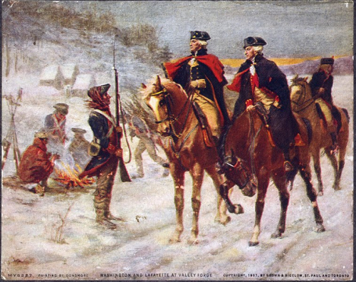 Lafayette & Washington at Forge Valley