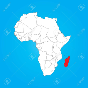 32386799-a-map-of-africa-with-a-selected-country-of-madagascar